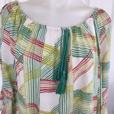 Missy Q Green Boho Top Boho Swing Style Bell Sleeves Size 14 Nina Proudman style