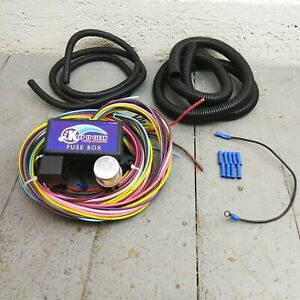 12v 18 Circuit 12 Fuse Universal Wiring Harness Kit knucklehead 1954 cadillac