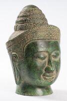 Antigüedad Khmer Estilo Phnom Da Lakshmi / Devi Consort De Vishnu Torso - 22cm /