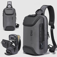 TSA Lock Charging Port Water Resistant Chest Pack Sling Bag One Strap Backpack