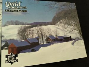 Vintage Golden Guild 1000 piece Jigsaw Puzzle NIB Winter Scene