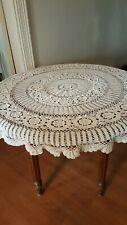 Circular Crochet Lace Tablecloth