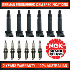 6x Swan Ignition Coils & NGK Spark Plugs for Toyota HiLux Landcruiser Prado 4.0L