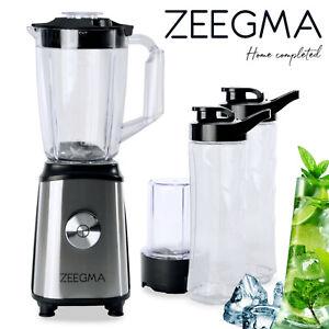 7 in 1 Standmixer ZEEGMA VITAMINE Smoothie Maker Mixer Blender Kaffeemühle 1050W