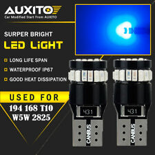 2X AUXITO Blue 168 194 921 Wedge License Side Marker Light Canbus LED Bulb CHD