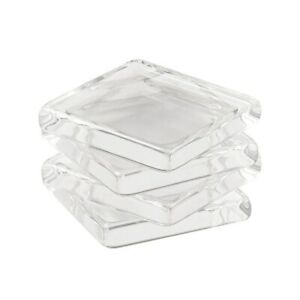 "100 1"" Square Clear Glass Cabochon Tiles Necklace Pendant Craft Supply 25mm"