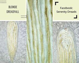 Serenity Dreads- Clip in Blonde Synthetic Dreadfall Dreadlocks Dreads