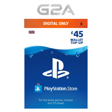 Playstation Network £45 Card - PSN 45 GBP UK Store Key / PS4 PS3 PSP - 45 Pounds