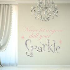 SPARKLE GLITTER GIRLS ROOM CHILDREN'S BEDROOM PLAYROOM WALL STICKER DECAL VINYL