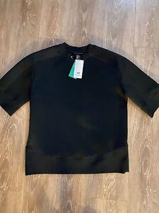 H&M Men's Studio Trend Collection Mesh Short Sleeve Sweatshirt