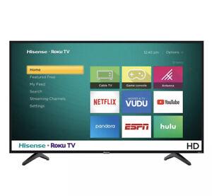 32 Inch Class 720P HD Display LED Roku Smart Home TV Hisense Bedroom W/ Remote