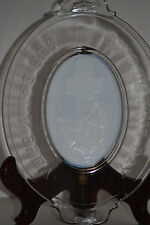 """ATTERBURY """" ROCK OF AGES"""" BREAD PLATE WITH WHITE MILK GLASS CENTER"""