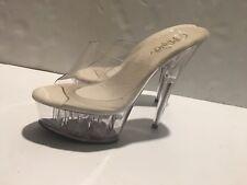 """PLEASER KISS201/C/M Sexy Stripper Dancer 6"""" High Heels Platform Sandals Shoes"""