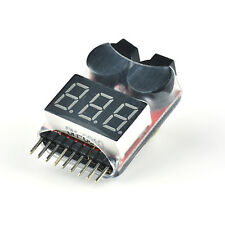 1S-8S Li-Po Lithium Battery Voltage Tester Checker Indicator Buzzer Beeper Alarm