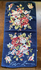 Ralph Lauren Vintage Floral Hand Bath Towel Cotton Brazil Blue 14x24 Kimberly?