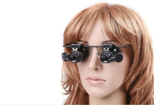Glasses Type With LED 20x Magnifying Glass