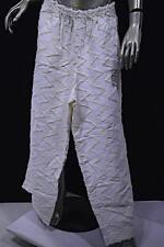 OSKA White Cream Linen Cotton Blend Elastic Waist Wide Leg Pant  Sz 4  FUN