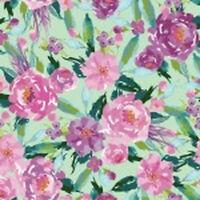 Riley Blake  Hampton Garden Main Mint C9440-MINT green fabric*