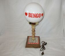 Vintage Bingo Hall Table Lamp Modern Retro 60s Rare Find! Works