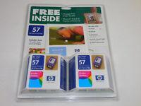 HP 57 Lot of 2 Inkjet Print Cartridges Tri-Color Sealed Package Dated SEPT 2004