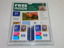 HP 57 Lot of 2 Inkjet Print Cartridges Tri-Color Sealed Package Dated SEPT 2004