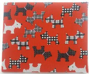 Disabled Blue badge holder wallet cover SCOTTIE DOG fabric RED Hologram safe