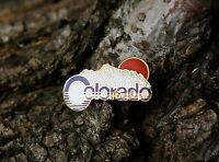 Colorado CO State Mountain Sun Gold Tone Metal Lapel Pin Pinback