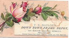 PHILADELPHIA V E NAYLOR'S DOWNTOWN PICTURE FRAME DEPOT*ARTISTS' MATERIALS