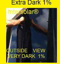 "30"" x10 feet  1% Very Dark hp 2ply Black Residential Commercial WIndow film Tint"