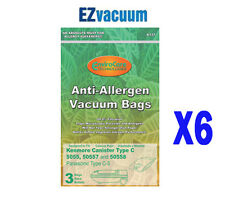 18 Kenmore Type Q Vacuum Cloth Bags for 5055,50557,50558 Canisters