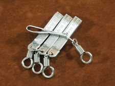 4 x Thai AMULET Pocket/Tie CLIP Stainless Steel Display Chain FREE Shipping