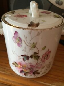 W&R Very Early Carltonware Caddy Very Rare  Nice Flower Design With Twin Handles