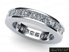 2.50Ct Princess Diamond Classic Wedding Eternity Band Ring 18k White Gold H SI2