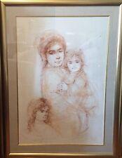 Edna Hibel Miriam and Children