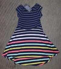 Tommy Hilfiger Girls Striped Sleeveless Dress - Size 4 - NWT