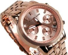 Michael Kors MK6077 Ritz Diamond Chronograph Rose Gold-Tone Steel