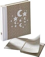 Stars & Moon baby photo albums, unisex, bookbound, white pages