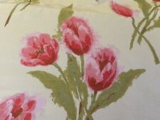 BELFIELD CURTAIN FABRIC  ROSES ROLL END 8.56 mtrs