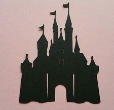 1 x grandi Fata Principessa Castello Re Magico Regno Silhouette Taglia A4