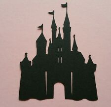 1 x LARGE Fairy Princess King Castle Magic Kingdom  silhouette A4 size