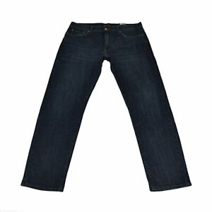 Lucky Brand Mens Jeans 221 Straight Fit Denim Bottoms 36x32Blue Damaged Nwt New