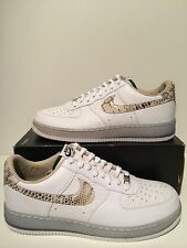 Nike Air Force 1 One Low PRM CMFT QS AF1 Premium Brazil White Snake Skin Sz 14