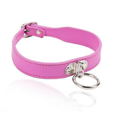 Kinky Bliss Pink Bondage Collar Sensual Desire Faux Leather Couples Necklace