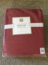 NEW Pottery Barn Teen/Kids Favorite Tee Solid Red Twin xl Sheet Set 3 pc