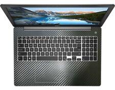 2-pack Black carbon fiber Palmrest Sticker Cover Skin for Dell Inspiron 15-5000