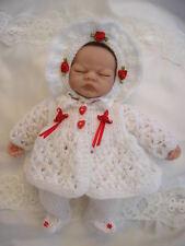 "Creative Dolls Designs Knitting Pattern Matinee Set For 10"" Dolls Premature Baby"
