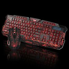6c38f2d2c6b Rainbow Gaming Keyboard and Mouse Set J10 Backlight Ergonomic Usb for PC  Laptop