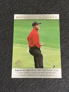 2013 SP Authentic Golf #51 Tiger Woods Authentic Moments Card