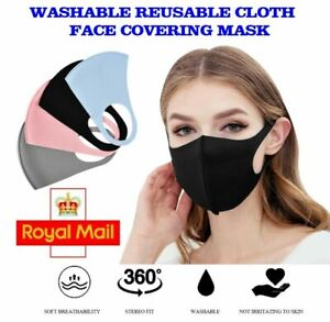 Face Covering Mask Reusable Washable Breathable ✅ High Quality  ✅ 4 Colours