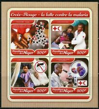 NIGER 2017 RED CROSS  BATTLE AGAINST MALARIA SHEET MINT NH